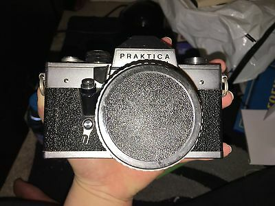 Vintage Pratika camera with antique case