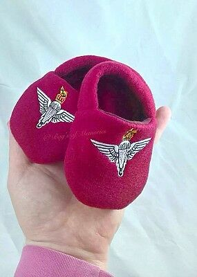 Baby Parachute Regiment slippers, 6-12 months soft slippers, para kids gifts