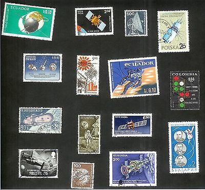 Space And Telecommunications - Fifteen Stamps