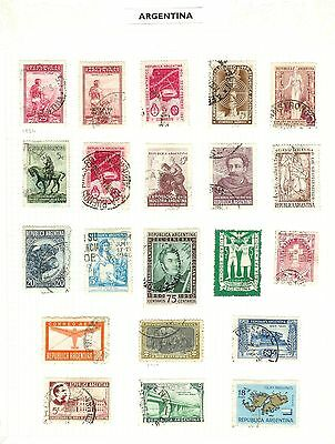 Argentina Stamps -  Early- 1910 Onwards