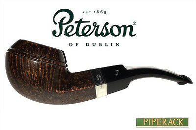 NEW Peterson Pipe Flame Grain 80s Fishtail  Silver Mounted P Lip & 9mm Filter