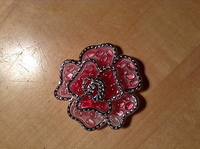 Large flower  Button - Pink 2 inch