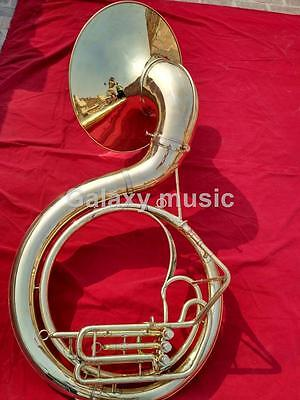 """Sousaphone Big Size in 25"""" in Gold Lacquer With Free Mouth Pc & Case Box"""