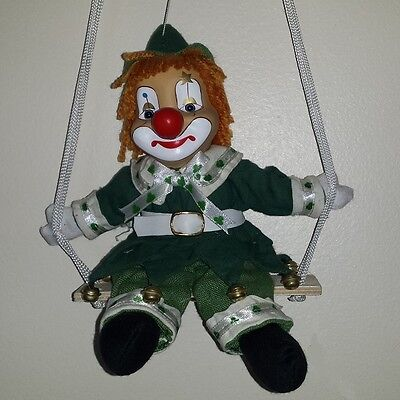 "Job Lot of 60 Vanity Fair 8"" Leprechaun Clown on a Swing"
