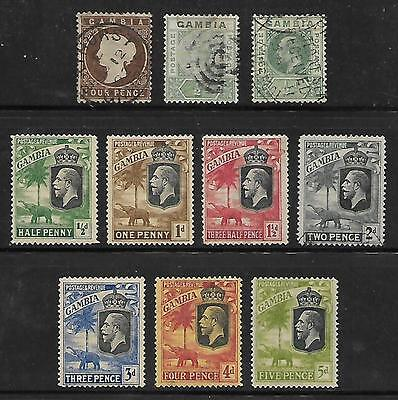 GAMBIA...Scott # 17 // 136A (Lot of 20 Different Earlys)...Mint & Used