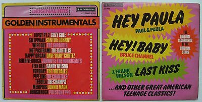 Two Various Artists Compilation LP's - Golden Instrumentals & Hey Paula