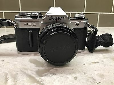 Canon Ae-1 Film Camera 50Mm 1.8 Fd Lens Great Shape 35Mm Japan Bundle.