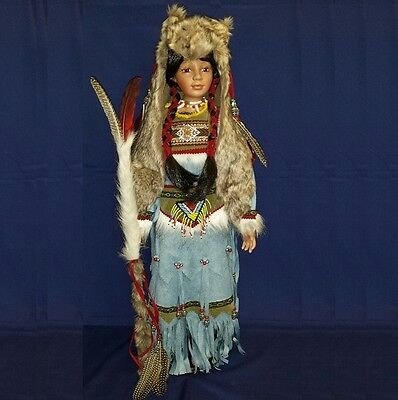 "A Job Lot of 4 Vanity Fair 26"" Indian Doll"