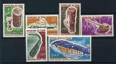 17-02-05258 - Chad 1965 Sass.  141-145 MNH 100% Musical instruments Culture