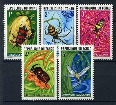 17-02-05305 - Chad 1972 Mi.  510-514 MNH 100% Insects Nature