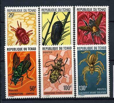 17-02-05314 - Chad 1974 Mi.  693-698 MNH 100% Insects