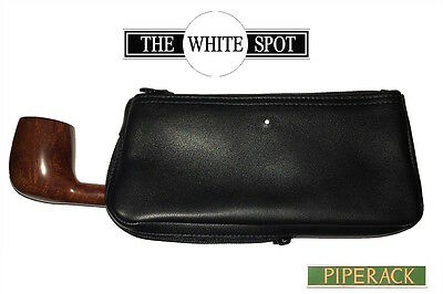NEW Dunhill White Spot 1 Pipe Combination Black Leather Tobacco Pouch PA2004