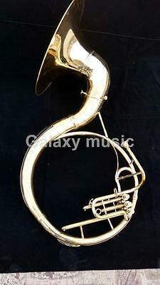 """Sousaphone Big Size in 22"""" in Gold Lacquer Brass With Free Mouth Pc & Case Box"""
