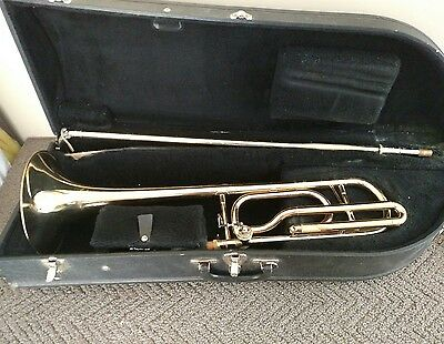 Getzen 747 Eterna Trigger Trombone with Hard Case and Bach Heavy Weighted MPC