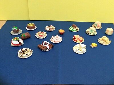 Dolls house job lot of food -Cheese and cakes