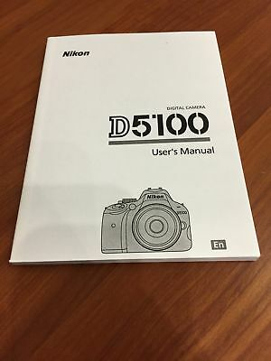 Nikon D5100 Digital Camera User's Manual Guide Book Brand New. Never Used