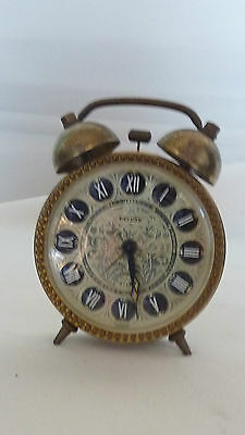 REVEIL  DELUXE à Cloches Germany clock collection RARE 7 jewells
