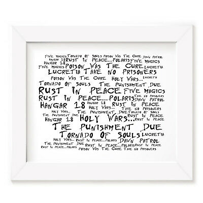 Megadeth Poster Print - Rust in Peace - Lyrics Gift Signed Art