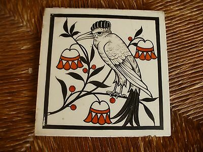 Very rare 6 inch Mintons Tile possibly  designed by Christopher Dresser