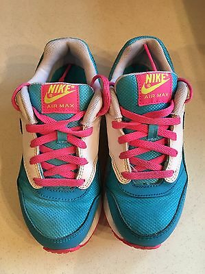 Girls Blue Pink And White Nike Air Max Trainers Size 12