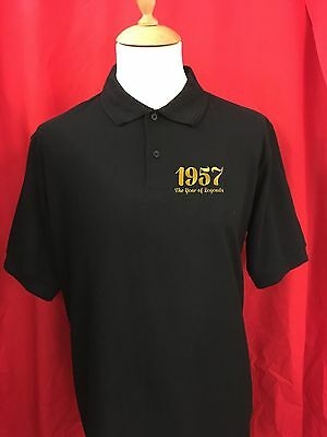 Personalized Year of Legends Birthday Anniversary Embroidered Polo Shirt