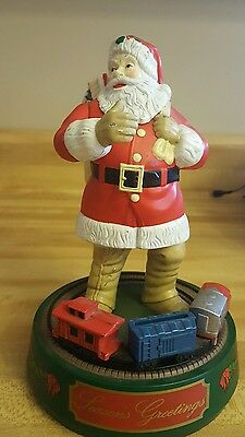 ERTL Coca Cola Figural Santa Clause w/Train Operating Mechanical Coin Bank