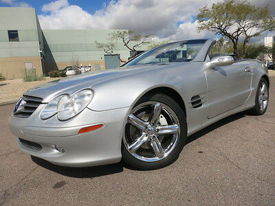 2004 Mercedes-Benz SL-Class SL500 Convertible 18inch Chrome Wheels Heated Seats Brilliant Silver Convertible SL500 2003 2005