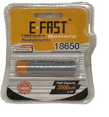 1 X Genuine E Fast 18650 3000mah 35A Battery Flat Top The Latest Edition 2018