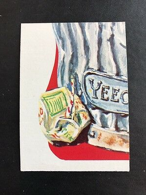 RARE 1976 16th Series 16 Topps WACKY PACKAGES BOTTOM LEFT Puzzle Checklist Card