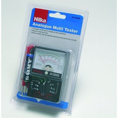 Multimeter Multi Circuit Tester  AC/DC Volts Amps OHM Analogue Hilka 34100055