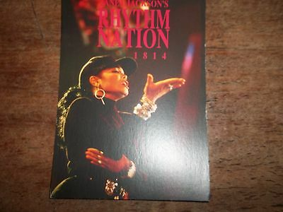 1 Janet Jackson Pop Card- Approx 4 X 6 Inches- As New