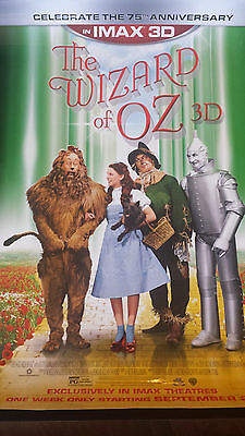 "2013 Wizard Of Oz Movie Theater Ds Poster 27"" X 40"" 75Th Anniversary Imax"