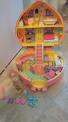 Lucy Locket Polly Pocket Vintage Dream House Heart With Oringinal Dolls