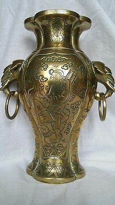 antique chinese bronze vase mark ( CHEN-TZI-PAO- CAN )