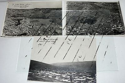 WW1, fort et région du fort de Vaux, lot de 3 photos 1916 et 1917