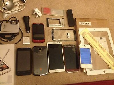 job lot phones samsung note 3 iphone 4s htc ipad 2 touch olympus camera spare