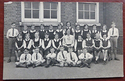 Early 1900's Real Photo Postcard-  Primary School Photo- Social History