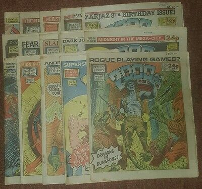 2000ad collection of 15 comics from 1985