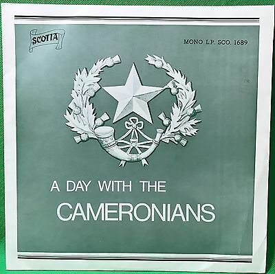 Cameronians Scottish Rifles Vinyl Record LP Military Pipes & Drums