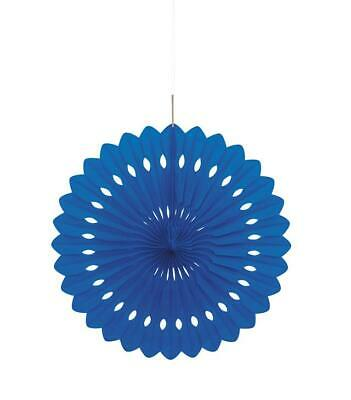 "Royal Blue 16"" Hanging Fan Decoration"