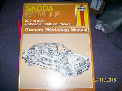 HAYNES MANUAL FOR SKODA ESTELLE 1046cc 1174c ALL MODELS FROM 77 TO 80