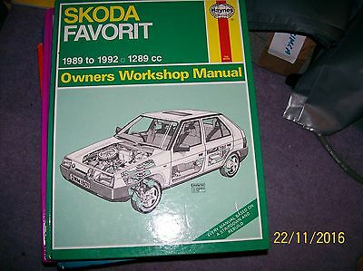 HAYNES MANUAL FOR SKODA FAVORIT 1289cc FROM 89 TO 92