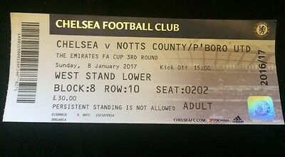 Chelsea V Peterborough FAC  ticket stub 2017-immaculate