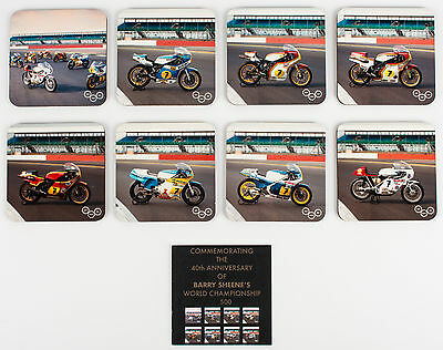 Suzuki Genuine  Limited Edition Barry Sheen Coasters 40th Anniversary Set