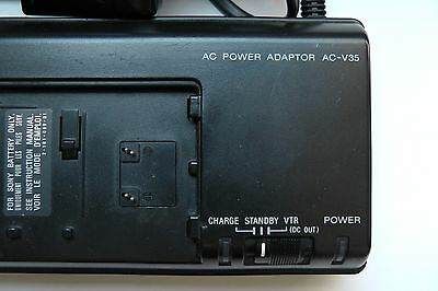 ORIGINAL SONY AC-V35 AC Mains Power Adaptor Battery Charger for Camcorder TESTED