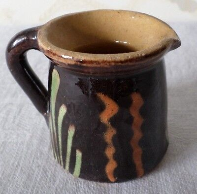 Petit pichet Alsace en terre vernissée / French Pottery old Alsace Pitcher Tiny