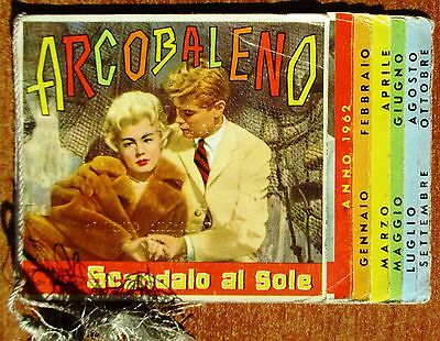 Calendarietto Da Barbiere - Arcobaleno - Anno 1962 - Calendario