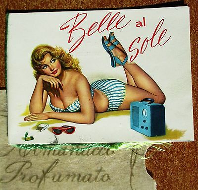 Calendarietto Da Barbiere - Belle Al Sole - Anno 1962 - Pin-Up - Calendario