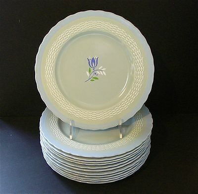 """Set of 12 ~ Minton ~ Chinese Celadon ~ 8 7/8"""" Luncheon Plates"""