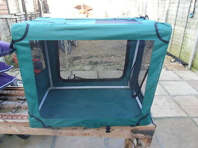 Portable Dog Pet Crate Fabric Soft Carrier Kennel Puppy Travel Cage Bag M green